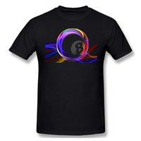 T-shirt da uomo Abbigliamento da uomo Biliardo T-shirt colorata a 8-Ball Fashion Manica corta