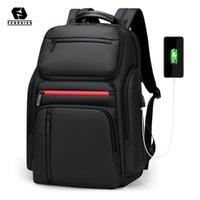Fenruien الأزياء الأعمال سعة كبيرة حقيبة كمبيوتر محمول الرجال متعدد الوظائف USB شحن سفر ظهره حقيبة مدرسية للمراهق LJ210203