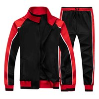 Men's Casual Tracksuit Full Zip Men 2 Piece Running Jogging Athletic Sports Jacket and Pants Set mens Gym Sweatsuits Eur Size TZ4902