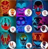 Masque Face Masque Halloween Décorations Halloween Glow Masque PVC Matière LED Halloween Femmes Masque Masque Costumes pour adultes Décor à la maison