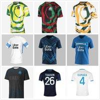 20 21 22 Marselha Jerseys de futebol Olympique de Milik om África 2021 2022 Maillot de pé Payet Thauvin Benedetto Homens Kit Kit Kit Quarta Camisa de Futebol Versão Fãs