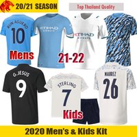 20 21 22 Manchester City Camisas de futebol STERLING 2021 Man City KUN AGUERO STERLING Camisa DE BRUYNE GESUS GÜNDOĞAN MAHREZ FODEN homens camisa Crianças Kit