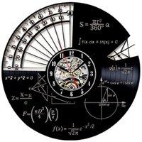 Wall Clocks Timelike Math Theme Clock Modern Design Retro Style Decorative Study Lp Cd Record Watch Home Decor Sile