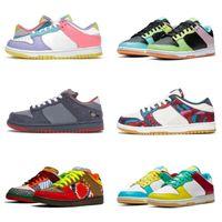 En Kaliteli Dunks Koşu Ayakkabıları Erkek Kadın Dunk Kulübü 58 Körfez Parra Zebra Lazer Mavi Lot 35 SB Atmos Fil Kireç Buz Soyut Sanat ACG Terra Eğitmenler Sneakers
