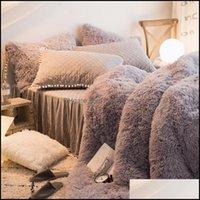 Biancheria da letto Forniture Tessili Casa Casa Giardino Set Grigio Rosso Bianco Bianco Purple Principessa Ragazze Fleece Tessuto Letto Puntamento Pingolato Pingolato Pingolato Set Gonna