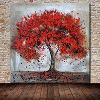Mintura Art Grand Taille Peinture à la main Arbre de vie Peintures à l'huile sur toile Moderne Abstrait Photos Art mural Salon Home Décoration