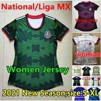 2021 Мексика Женщины Футбол Джерси Национальная Женская Мерсище Клуб Девушка Женщина MX Liga Chivas Cruz Azul Monterrey Chicharito Лозано Гвардии Вела Футбольные Рубашки
