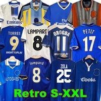 final Drogba 2011 Torres Chelsea CFC Retro Soccer Jersey Lampard 11 12 Final 96 97 99 82 Camisa de Futebol Vintage Crespo Classic 03 05 06 Cole Zola Vialli 07 08