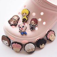 Karikatür PVC Ayakkabı Dekorasyonlar Accessoreis Anime Croc Charms Takunya Bilezik Wirstband Charm Toka Hediye