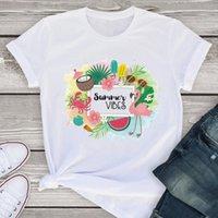 Y mujeres gráficos manga corta para hombre t shirts dulce sandía flamenco playa verano dama mujer ropa camisetas mujer