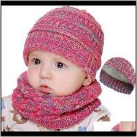 Inverno Bambini Cappelli Sciarpa Set Crochet Fleece Caps e Sciarpe per Baby Addensare Accessori caldi Toddler Caldo Accessori Christmas Gifts1 YJDMY RJITR