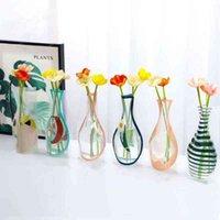6pcs Vasi eco-compatibili portatili per le case Carino 3D Pieghevole Pieghevole Vaso Pieghevole Decorazione di nozze Pot di fiori durevole Pentola di fiori