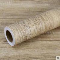 Adesivi per grano in legno di PVC Armadio Armadio Mobile Mobile Mobili Renovation Carta da parati Autoadesivo Impermeabile Carta da parete Arredamento per la casa