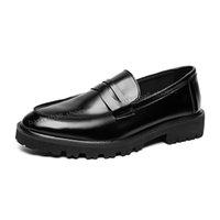 Luxus-Desginers Männer Schuh aus echtem Leder Leinwand-Plattform MNs Krokodil männlich Casual-Hochzeits-Party-Müßiggänger Kleid Schuhe Größe 38-45