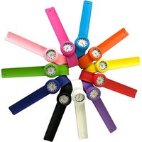 Kinder Slap Watch Multicolor Quarz Analog Armbanduhr Silikon Sport Uhren Kinder Jungen Mädchen Student Weihnachten Geschenkuhr
