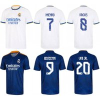 2021/22 Real Madrid Soccer Jersey 2022 Hazard Modric ISCO VINI JR. Uniform Mens Marcelo Odegaard Asensio Casemiro Camiseta