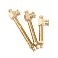 Gold Color Metal Smoking Pipe Detachable SpoonTobacco Cigarette Hand Filter Pipes 3 Styles Tool Accessories