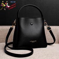 Fashion Women Bucket Bag Handbags Purse Simple Lichi Pattern Classy Shoulder Bags for Women Daily Workout