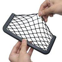 Car Organizer 1 Pcs Universal Black Net Bag Phone Holder Storage Pocket Mesh For Wallet Keys Pens And MORE