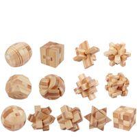 Intelligence Kongming Luban Locks China Traditional Unlock Toy Kids Wooden Brain Teaser Puzzle Game Educational Toys Magic Cube 632234746501
