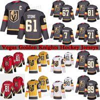 Vegas Golden Knights Jersey 61 Mark Stone 67 Max Pacioretty 71 William Karlsson 81 Jonathan Marchessault 7 Alex Pietrangelo 90 Robin Lehner الهوكي الفانيلة
