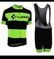 큐브 프로 남성 팀 사이클링 저지 세트 MTB 짧은 소매 자전거 의류 자전거 셔츠 턱받이 반바지 정장 Maillot Ciclismo Y21041015