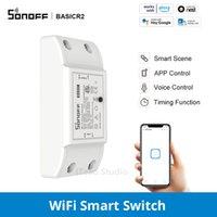 Sonoff BasicR2 Inteligente Automação DIY Inteligente WiFi Sem Fio Controle Remoto Remoto Universal Módulo Trabalha com Ewelink
