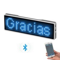 Bluetooth-LED-Abzeichen-Wiederaufladbare Namens-Tag-Digital-Marken-Scroll-Message Board Mini-Display für Party-Meeting Andere Lichter Beleuchtung