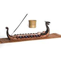 Dragon boat encens brûleurs de parfums lampes de brûleur porte-bâtonnet créatif traditionnel design chinois domestique décoration à la main sculpté décoloration ornements