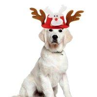 Dog Apparel Christmas Cat Hat Accessory Spring Autumn Hairpin Pet Supplies Headband Xmas Festival Decoration Head Decor