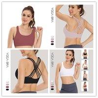 Mulheres Correndo Sports Bra Camisas ioga Gym Vest Push Up Fitness Top Sexy Underwear Senhora Tops Shakeproof Ajustável Strap Bras Roupas de Bras
