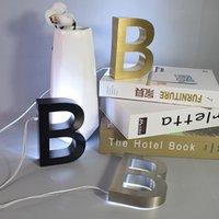 Neuheit Artikel Dekoration Handwerk Metall 3D LED Hausnummer Platten Edelstahl Tür Outdoor Home EL Namensschild Lichter Buchstabenzeichen Adresse