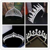Zircon bridal crown Diamond Fashion Wedding Hair accessories popular Princess Wedding headdress