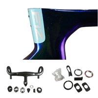 Blue Chameleon model T1100 1K F12 Carbon Road Frames Direct Mount Brakes Bicycle Disk Frameset with Talon Handlebar 42 44 46.5 50 51.5 53 54 55 56 57.5 59.5cm for Selection