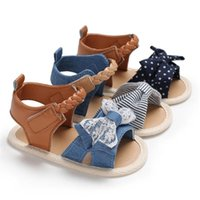 Sandals Summer Children'S Shoes Fashion Sweet Princess Lace Bow Girls Toddler Baby Soft Breathable Low Heel