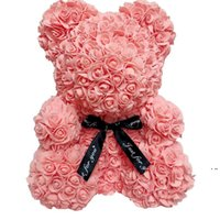 روز تيدي الدب الاصطناعي زهرة الديكور روز الدب الزفاف عيد الحب هدايا للنساء المنزل الديكور HWB6352