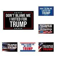 لوازم الحزب ترامب أعلام 2024 علم الانتخابات الرئاسية الأمريكية لا ألومني لقد صوتت لصالح Trump 90 * 150CM DHL BJ08