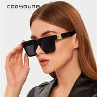 COOOONG Unisex Mode Damen Square Sonnenbrille Frauen Goggle Shades Vintage Marke Designer Übergroße Sonnenbrille UV400