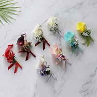 Wedding Common Callalily Brooch Artificial Decorative Flowers Corsage Bride and Groom Boutonniere