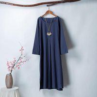 Casual Dresses Long Dress Women Summer Fashion Loose Plus Size Solid Color Lady Clothes Elegant Maxi