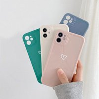 Love Heart Phone Cases For iPhone 13 12 11 Pro MAX XS XR 7 8 Plus Camera Protection Shockproof Soft TPU Back Cover