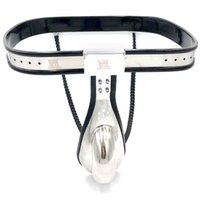 Massage Items Stainless Steel Male Chastity Pants Belt Adjustable Waist Cock Cage CBT BDSM Sexy Toys For Men Metal Fetish Device Bondage Lock