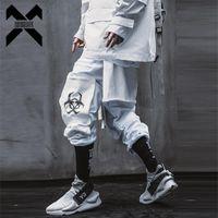 11 BYBB'nin Karanlık 2021 Streetwear Kargo Pantolon Elastik Bel Çok Cepler Joggers Pantolon Adam Harajuku Punk Taktik Pantolon WB063