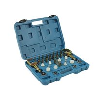 Universal A C Leak Testing Detector Tool   Flush Fitting Adapter Kit ( Fit for 98% Vehicles ) for A C System Repair Tool