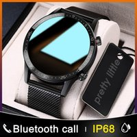 ID L13 Smart Watch Hommes IP68 imperméable ECG PPG Bluetooth Call Bluetooth Tension cardiaque Fitness Tracker Sports Smartwatch