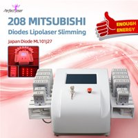 جودة عالية lipo الليزر التخسيس آلة المهنية المزدوج الطول الموجي ديود شفطية 650nm 635nm 10 + 4 منصات dioes
