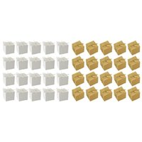 Regalo Wrap 100pcs Cajas Caja de caramelo Linterna Kraft Paquete Papel Organizador Caja de elaboración, Blanco Marrón