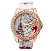 럭셔리 남성과 여성 시계 디자이너 브랜드 시계 Montre de Luxe Motif Tour Femmes, en 또는 Acier inoxydable, avec strass,