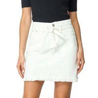Etekler Bayanlar Beyaz A-Line Mini Denim Bayan Yaz Kısa Yüksek Kaliteli Kot Kızlar BooDinine