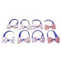 Journée de l'indépendance Colliers de chien Animaux Chiot Cat Chiot Réglable Pet Bow Cravate 4ème de juillet Petits chiens Accueil Fournitures décoratives T2I51837
